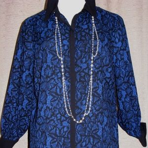 Button down floral lace print EUC stunning